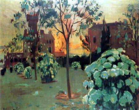 Joaquim Mir Trinxet - Le jardin à l'Institut Pere Mata