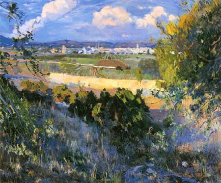 Joaquim Mir Trinxet - Paysage à Vilanova