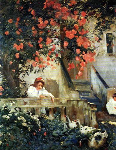 Joaquim Mir i Trinxet - Auf der Terrasse