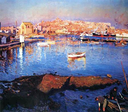 Joaquim Mir i Trinxet - Der Hafen von Tarragona