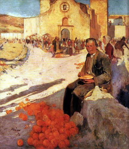 Joaquim Mir i Trinxet - Der Orangenverkäufer