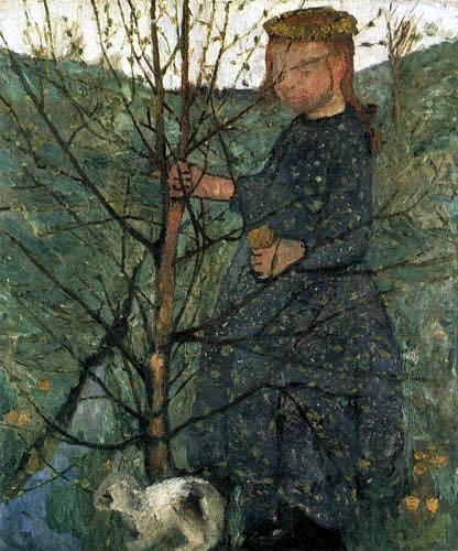 Paula Modersohn-Becker - Bauernkind mit Kaninchen