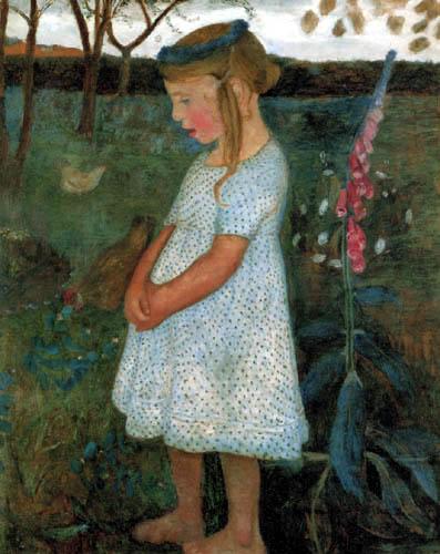 Paula Modersohn-Becker - Elsbeth in the garden