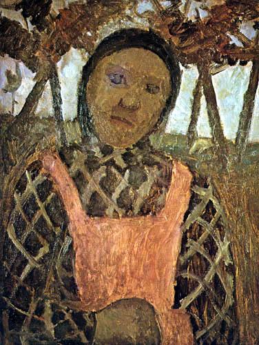 Paula Modersohn-Becker - Bauernkind mit rosa Schürze