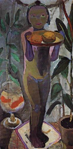 Paula Modersohn-Becker - Kind mit Goldfischglas