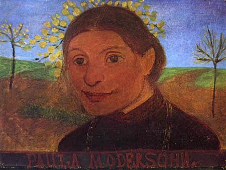 Paula Modersohn-Becker - Selbstbildnis mit blühenden Bäumen