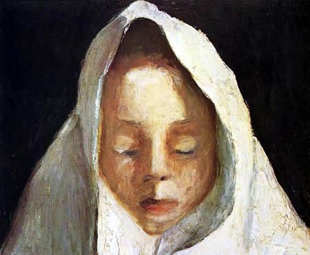 Paula Modersohn-Becker - Mädchen mit weissem Kopftuch