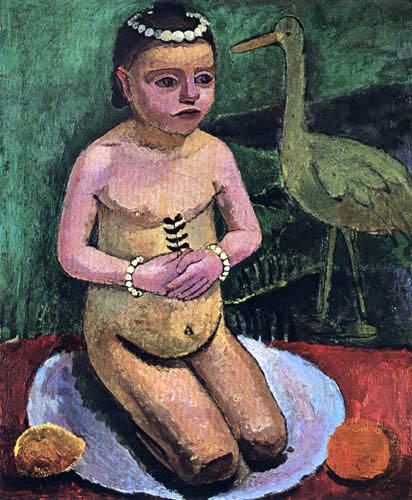 Paula Modersohn-Becker - Kinderakt mit Storch
