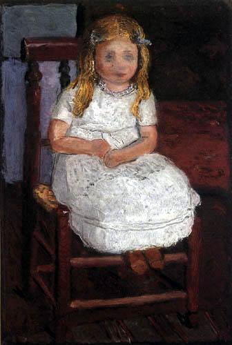 Paula Modersohn-Becker - Elsbeth auf einem Bauernstuhl sitzend