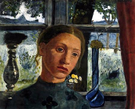 Paula Modersohn-Becker - Mädchen vor einem Fenster