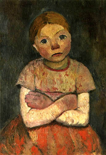 Paula Modersohn-Becker - Girl with her arms crossed