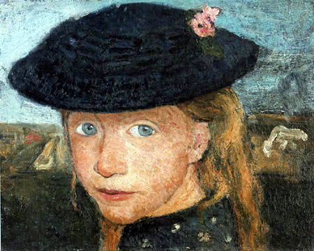 Paula Modersohn-Becker - Blonde girl with a straw hat