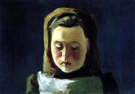 Paula Modersohn-Becker - Brustbild eines Mädchens mit Haarreif