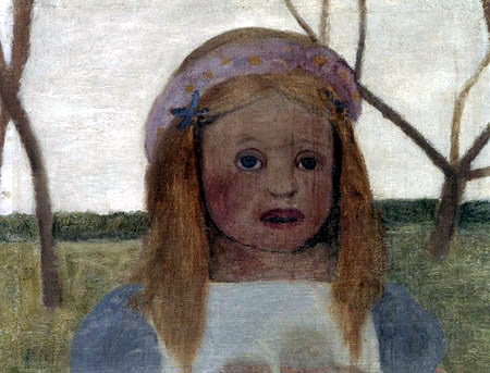 Paula Modersohn-Becker - Elsbeth mit Blütenkranz