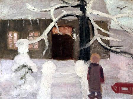 Paula Modersohn-Becker - Junge im Schnee