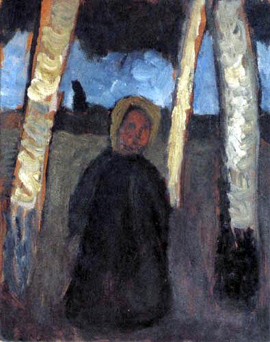 Paula Modersohn-Becker - Kind unter Birken
