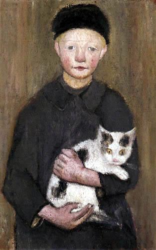 Paula Modersohn-Becker - Knabe mit Katze