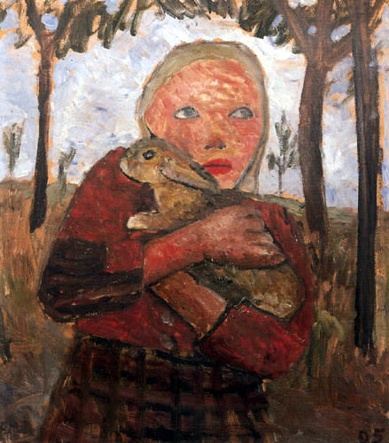Paula Modersohn-Becker - Girl with rabbit in her arms
