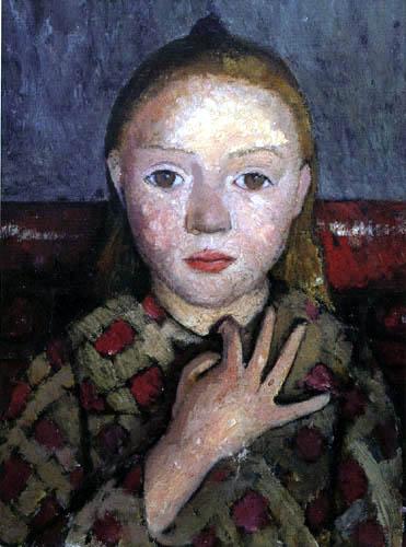 Paula Modersohn-Becker - Mädchenbildnis mit gespreizter Hand vor der Brust