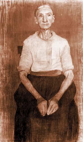 Paula Modersohn-Becker - Sitzende Bäuerin