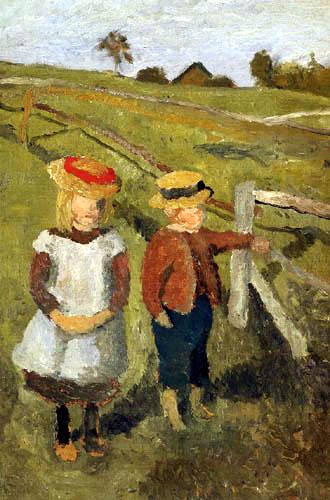 Paula Modersohn-Becker - Zwei Kinder am Weidezaun