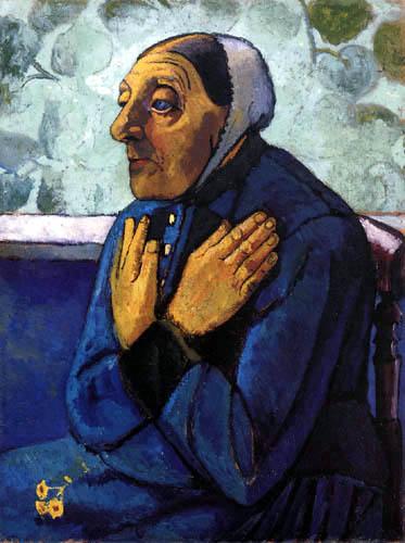 Paula Modersohn-Becker - Alte Bäuerin mit gekreuzten Händen