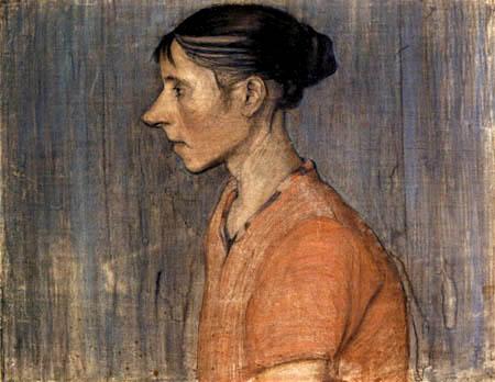 Paula Modersohn-Becker - Frau mit roter Bluse