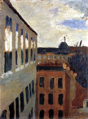 Paula Modersohn-Becker - Blick aus dem Atelierfenster in Paris