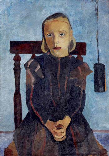 Paula Modersohn-Becker - Kind mit Uhrgewicht