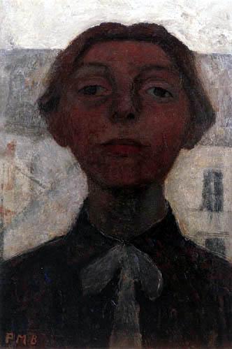 Paula Modersohn-Becker - Selbstbildnis vor Pariser Häusern