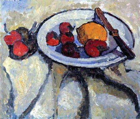 Paula Modersohn-Becker - Stilleben mit Erdbeeren und Zitrone