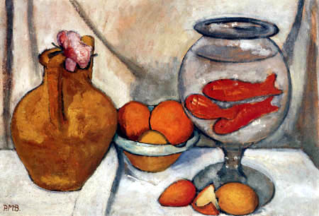Paula Modersohn-Becker - Still Life with fish bowl