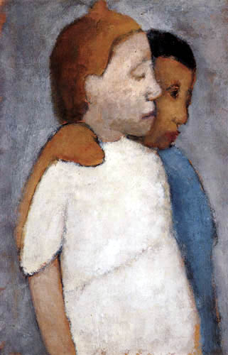 Paula Modersohn-Becker - Two girls in white and blue dress