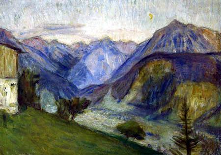 Otto Modersohn - An Evening in the Mountains