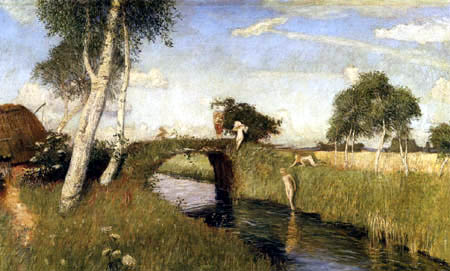 Otto Modersohn - Sommer am Moorkanal