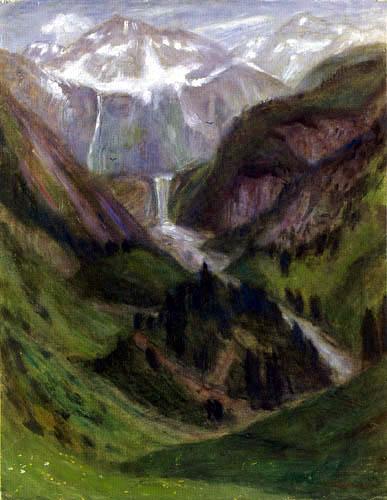 Otto Modersohn - The valley of Bärgündle