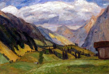 Otto Modersohn - View of the River Trettach