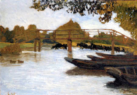 Otto Modersohn - Boats on the Wümme