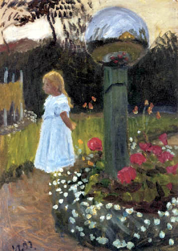Otto Modersohn - Elsbeth in the Garden