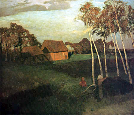 Otto Modersohn - An autumn evening