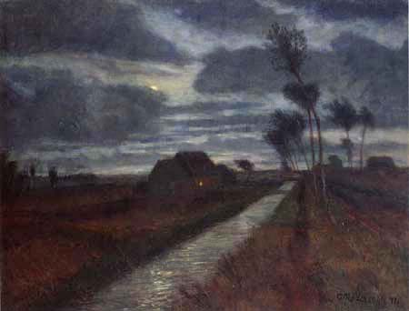 Otto Modersohn - A nocturnal moorland, Worpswede