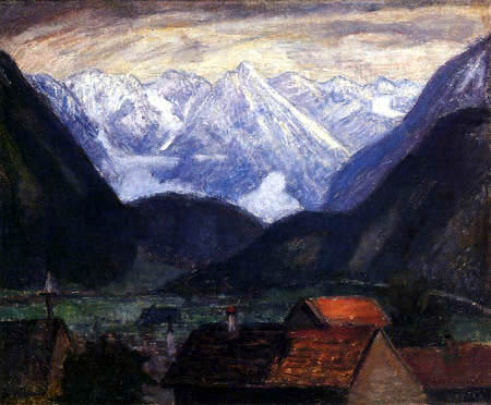 Otto Modersohn - Sonnige Bergkette