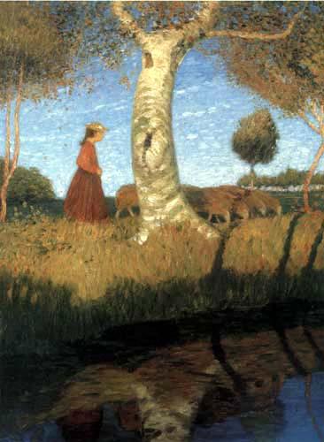 Otto Modersohn - Ein sonniger Herbsttag