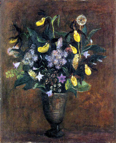 Otto Modersohn - A bouquet with lady's-slippers