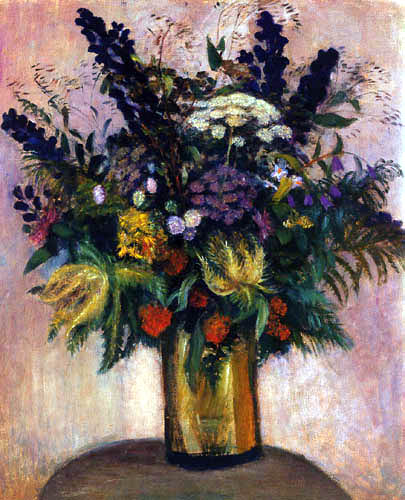 Otto Modersohn - A bouquet with lupins