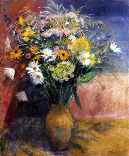 Otto Modersohn - A bouquet of daisies