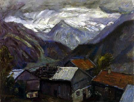 Otto Modersohn - Stürmischer Tag am Gailenberg