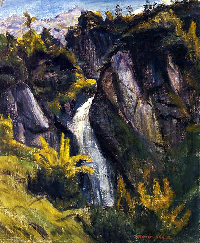 Otto Modersohn - Wasserfall am Bärgündle