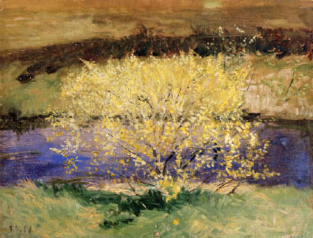 Otto Modersohn - Ein weißblühender Busch