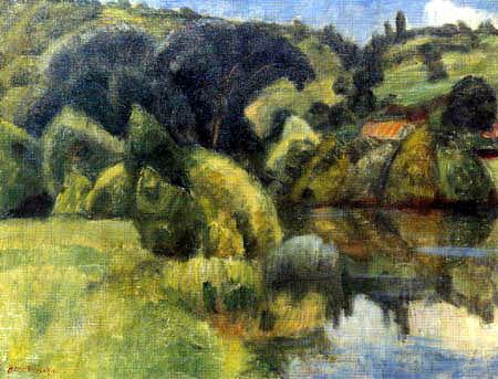 Otto Modersohn - The Tauber Valley in Waldhausen, Wertheim